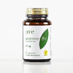 Suplemento vitamínico B12, 25 microgramos