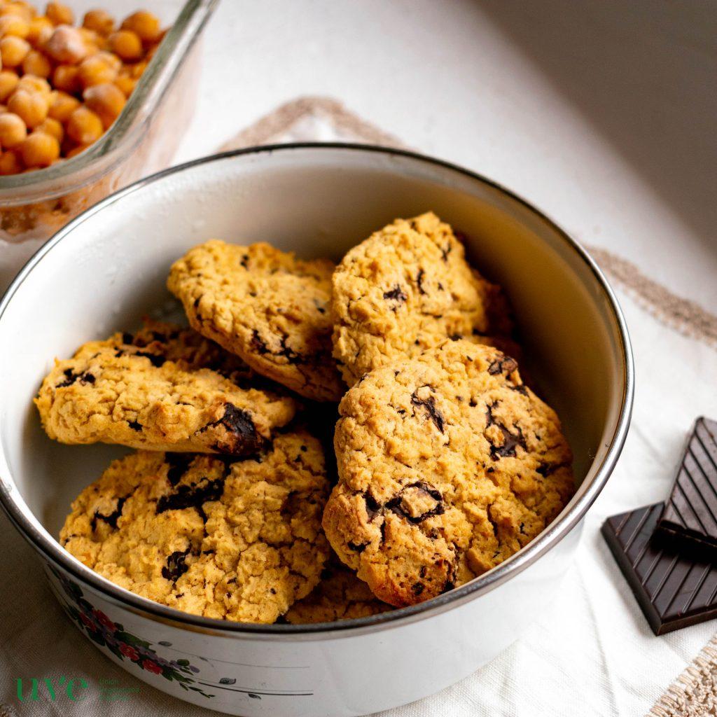 Vegetalmente fuerte vegpower galletas de garbanzos